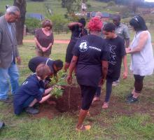 Tree planting ceremony at Voices of Women museum